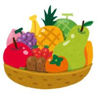 面会時の食べ物の持ち込みについてのお願い,フルーツバスケットのイラスト